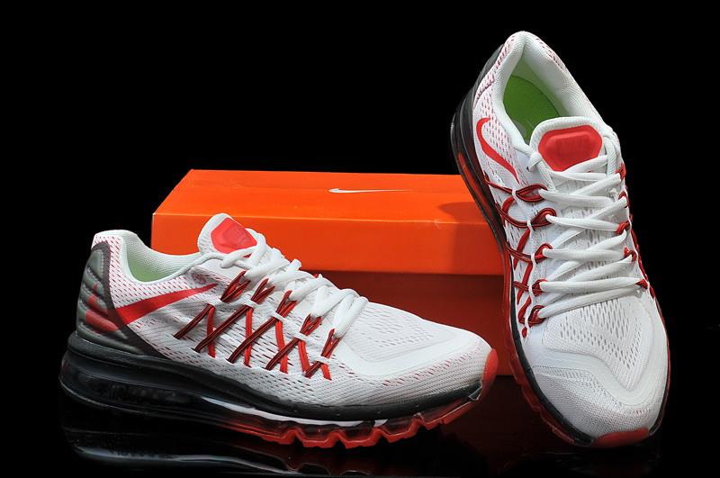 nike air max 2015 red and white