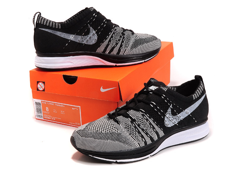 ae7e1ee1126 nike flyknit trainer womens black grey white