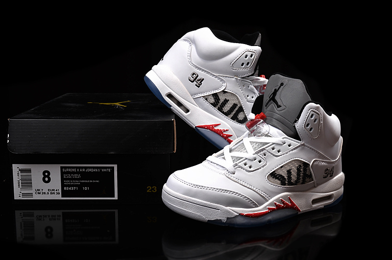 f59fb1566cd Men Basketball Shoes Supreme x Air Jordan 5 Retro AAA 274
