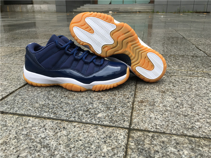 Men Basketball Shoe Air Jordan 11 Low Navy Gum AAAA 328