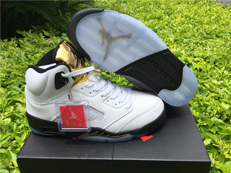 Men Basketball Shoes Air Jordan 5 Olympic AAAA 301