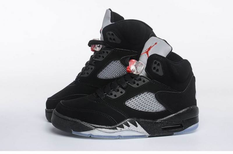 newest 8d048 950c1 Nike Air Jordan V Men Shoes in White with Black and Red