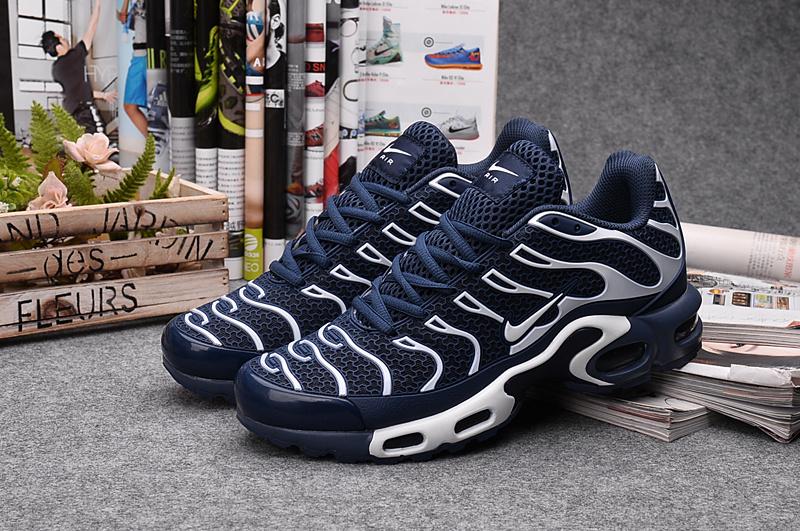 6c08687c0bf23 Nike Air Max Plus TXT Royal Blue Orange White Men s Running Shoes