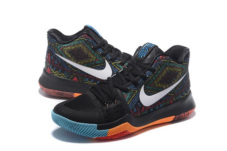 Cheap Sale Nike Kyrie Irving 3 Orange Blue Black
