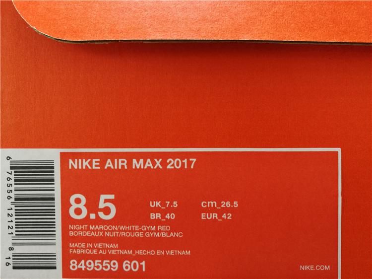 nike air max 2017 bordeaux