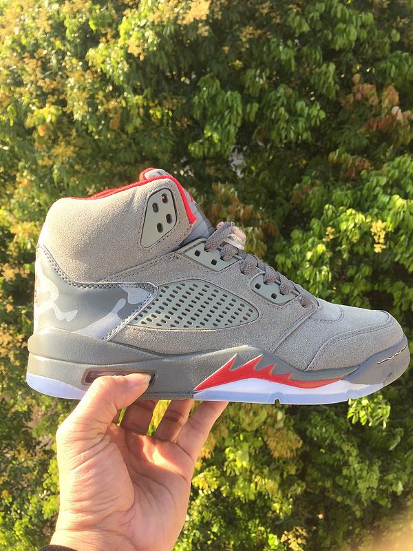 Bape X Trophy Room X Air Jordan 5 Men Basketball Shoe 330