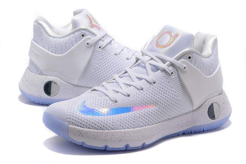 Men Nike KD Trey 5 Knit White Baby Blue Shoes