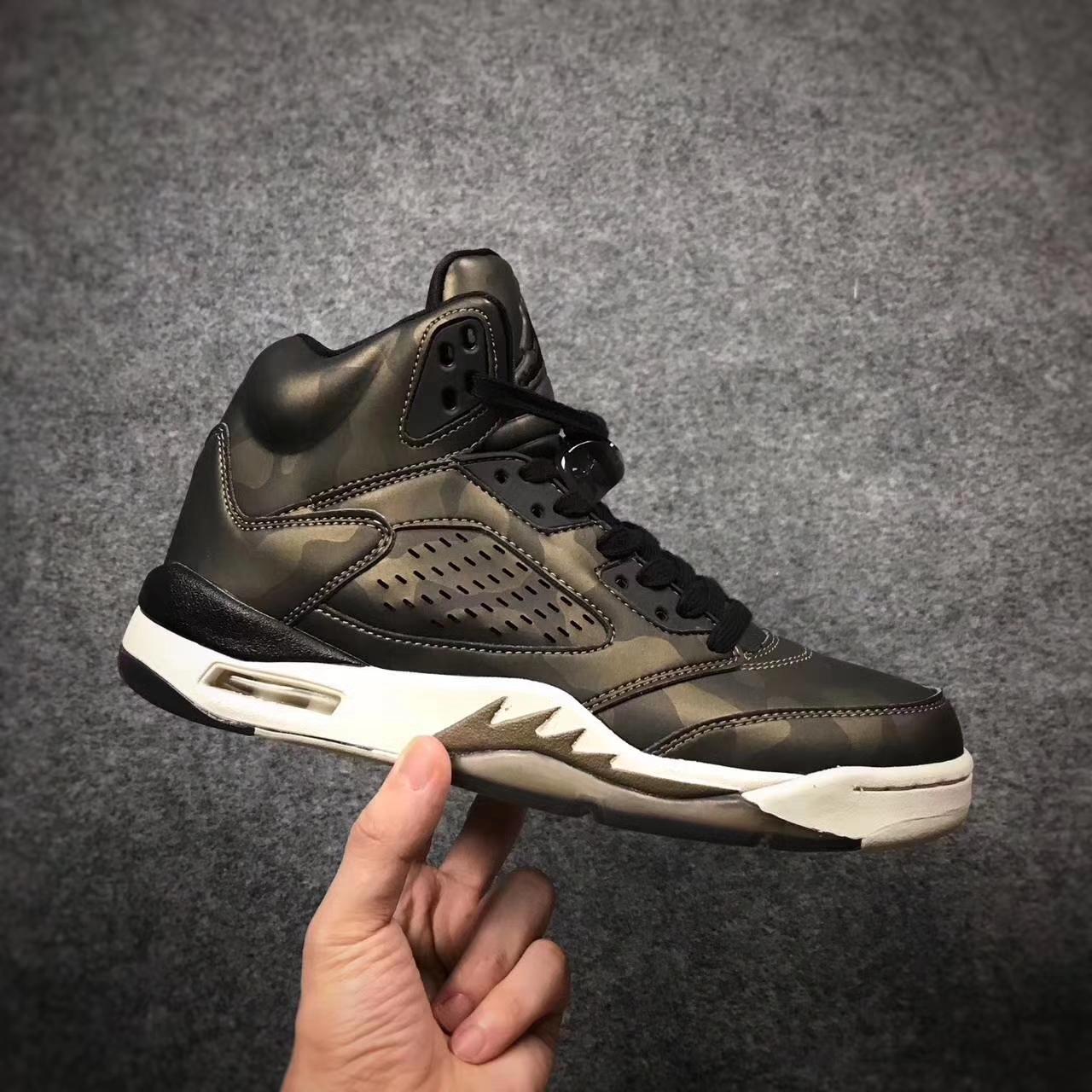 Men Air Jordan 5 Premium Heiress Metallic Field AAAAA 342