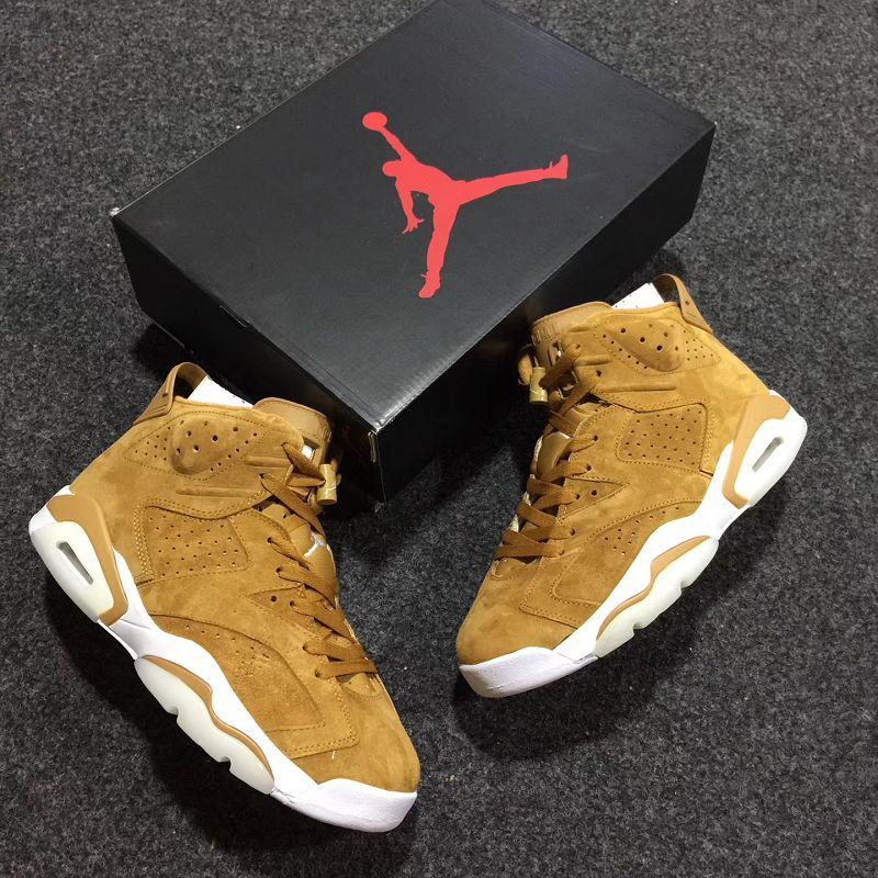 Men Basketball Shoe Air Jordan 6 Golden Harvest AAAAA 305