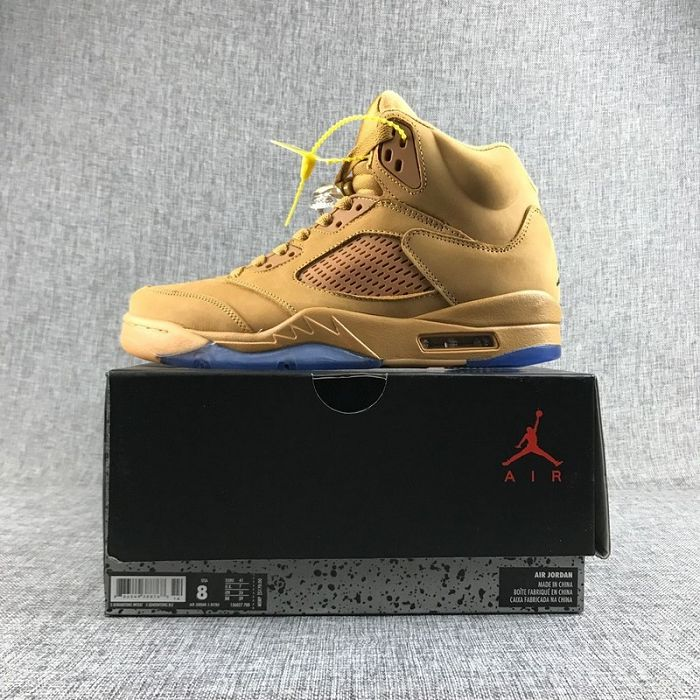 Men Basketball Shoe Air Jordan V Wheat AAAAA 334