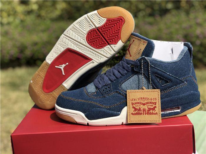 Men Air Jordan 4 Levis Denim Sneaker AAAAA 278