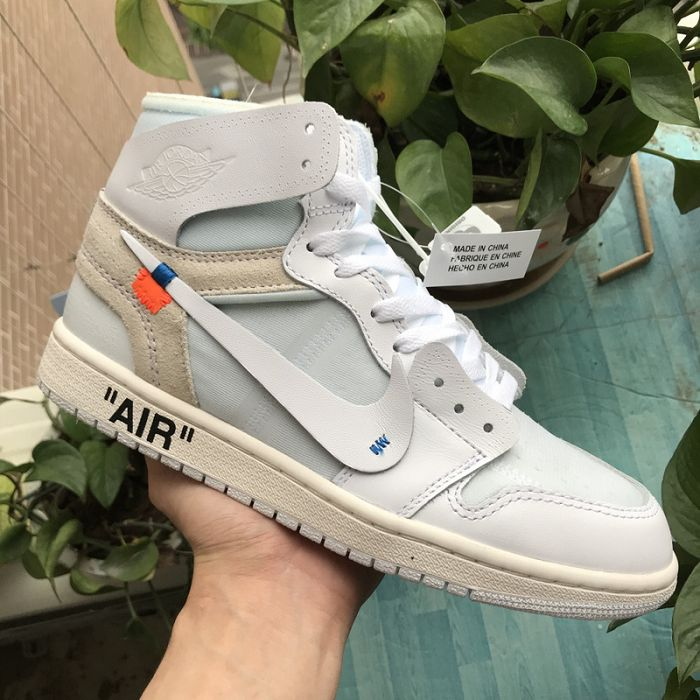 Men Off White x Air Jordan 1 White