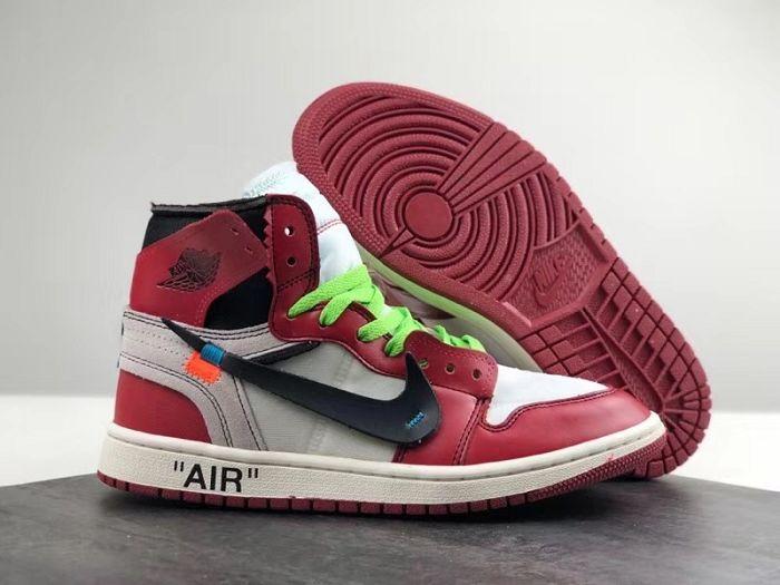Men Basketball Shoe Off-White x Air Jordan 1 AAAA 209