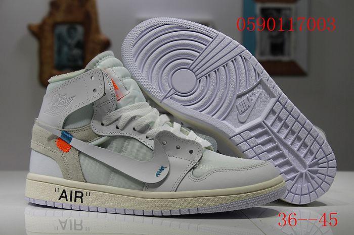 Men Off White x Air Jordan 1 Basketball Shoes AAA 406