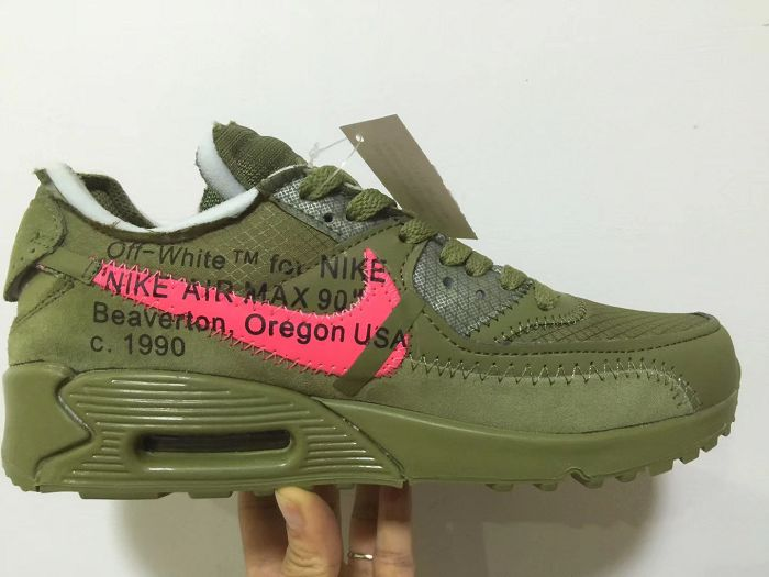 Men Off White x Nike Air Max 90 Running Shoe AAA 471