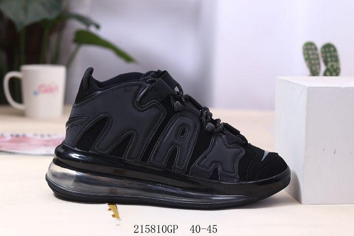 Men Nike Air More Uptempo 720 QS Black Metallic 316