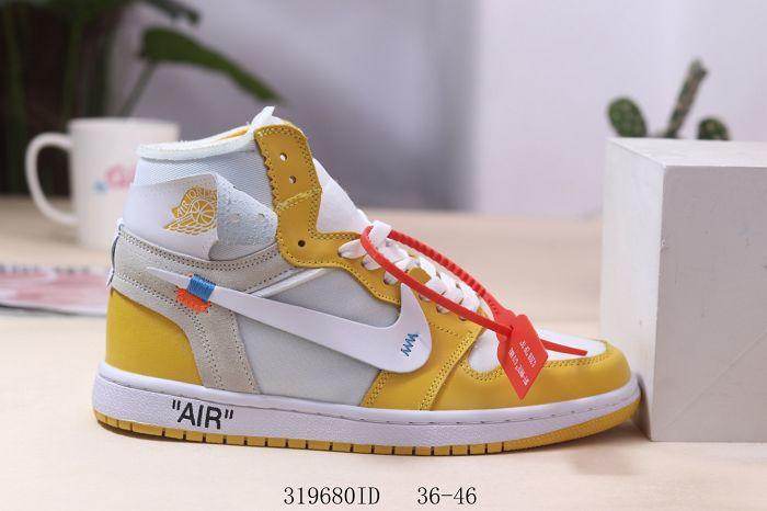 Men Off White x Air Jordan 1 Basketball Shoes AAA 516