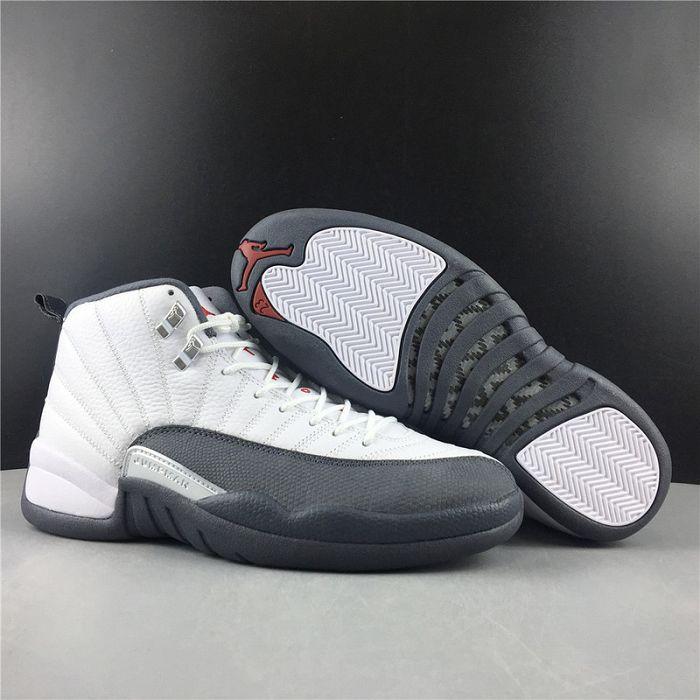 Men Air Jordan 12 Dark Grey