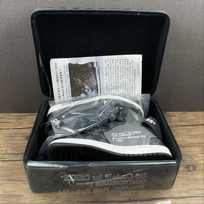 Men Off White x Air Jordan 1 Basketball Shoes AAAAA 550