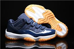 Men Basketball Shoe Air Jordan XI Low Navy Gum AAA 329