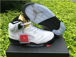Men Basketball Shoes Air Jordan 5 Olympic AAA...