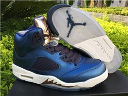 Men Basketball Shoes Air Jordan 5 Bronze AAAA...