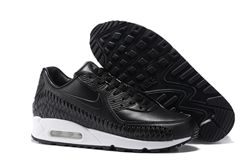 Men Nike Air Max 90 Woven Running Shoe 301