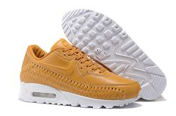 Men Nike Air Max 90 Woven Running Shoe 303