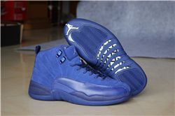 Women Sneakers Air Jordan 12 Blue Suede 240