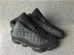 Men Basketball Shoes Air Jordan XIII Black Cat AAA 289
