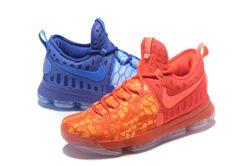 Men Nike Zoom KD 9 Fire Ice Basketball Shoe 409