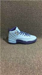 Women Sneakers Air Jordan 12 GS Purple Dust AAAA 247