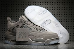 Men Basketball Shoe KAWS x Air Jordan 4 Cool Grey AAA 317