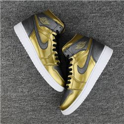 Women Sneaker Air Jordan 1 High GS BHM AAAAA 233
