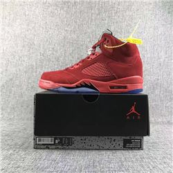Men Basketball Shoe Air Jordan 5 Red Raging Bulls AAAA 333