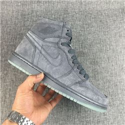 Men Basketball Shoe KAWS x Air Jordan 1 Cool Grey AAAAA 328