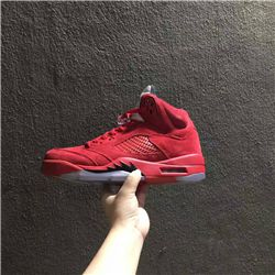 Women Sneaker Air Jordan 5 Raging Bull 2017 Retro AAAAA 244