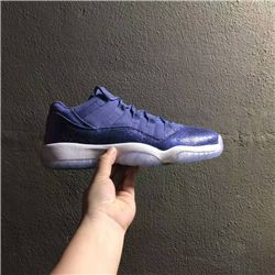 Women Sneakers Air Jordan XI Retro Low Blue Moon AAAA 287