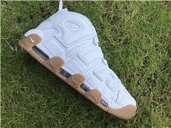Men Superme x Nike Air More Uptempo