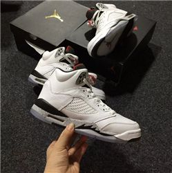 Women Air Jordan 5 White Cement Sneaker AAAAA 250
