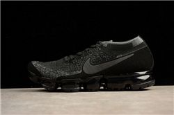 Men Nike Air VaporMax Triple Black 2018 Flyknit Running Shoes AAAA 322