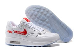 Men Nike Air Max 1 Supreme x Louis Vuitton Ru...