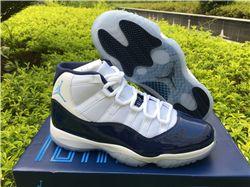 Men Air Jordan 11 Midnight Navy