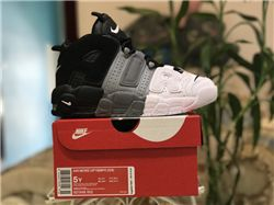 Women Air More Uptempo Tri Color Nike Sneakers AAAAA 222