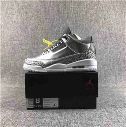 Women Air Jordan 3 Chrome Sneakers AAAAA 224