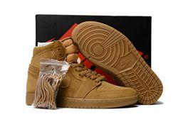 Men Basketball Shoe Air Jordan 1 Wheat AAA 361