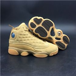Women Air Jordan 13 Wheat Sneakers AAAAA 260