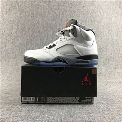 Men Basketball Shoe Air Jordan 5 White Cement AAAAA 338