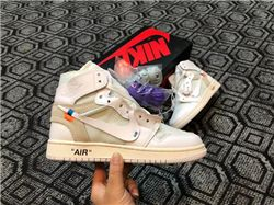 Men Off White x Air Jordan 1 AAAA 230