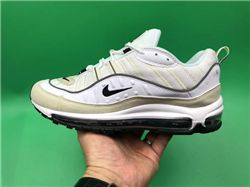 Women Nike Air Max 98 White Fossil Sneakers A...